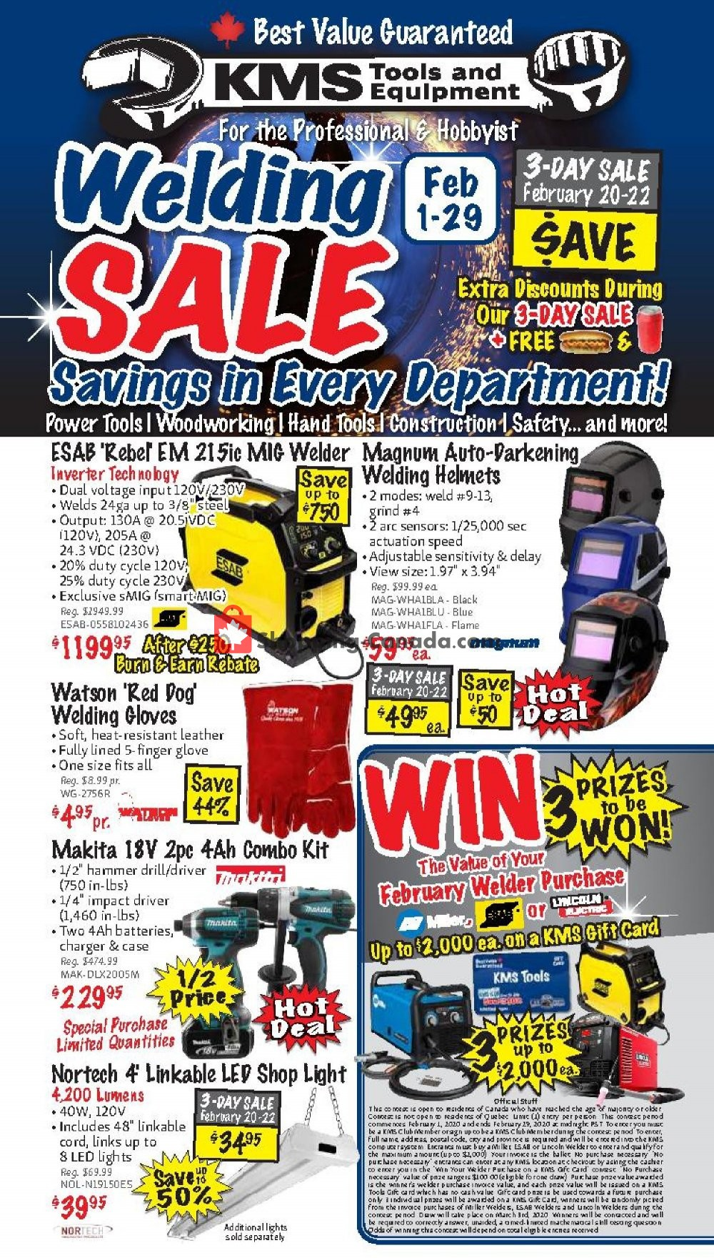 Flyer KMS Tools & Equipment Canada - from Saturday February 1, 2020 to Saturday February 29, 2020