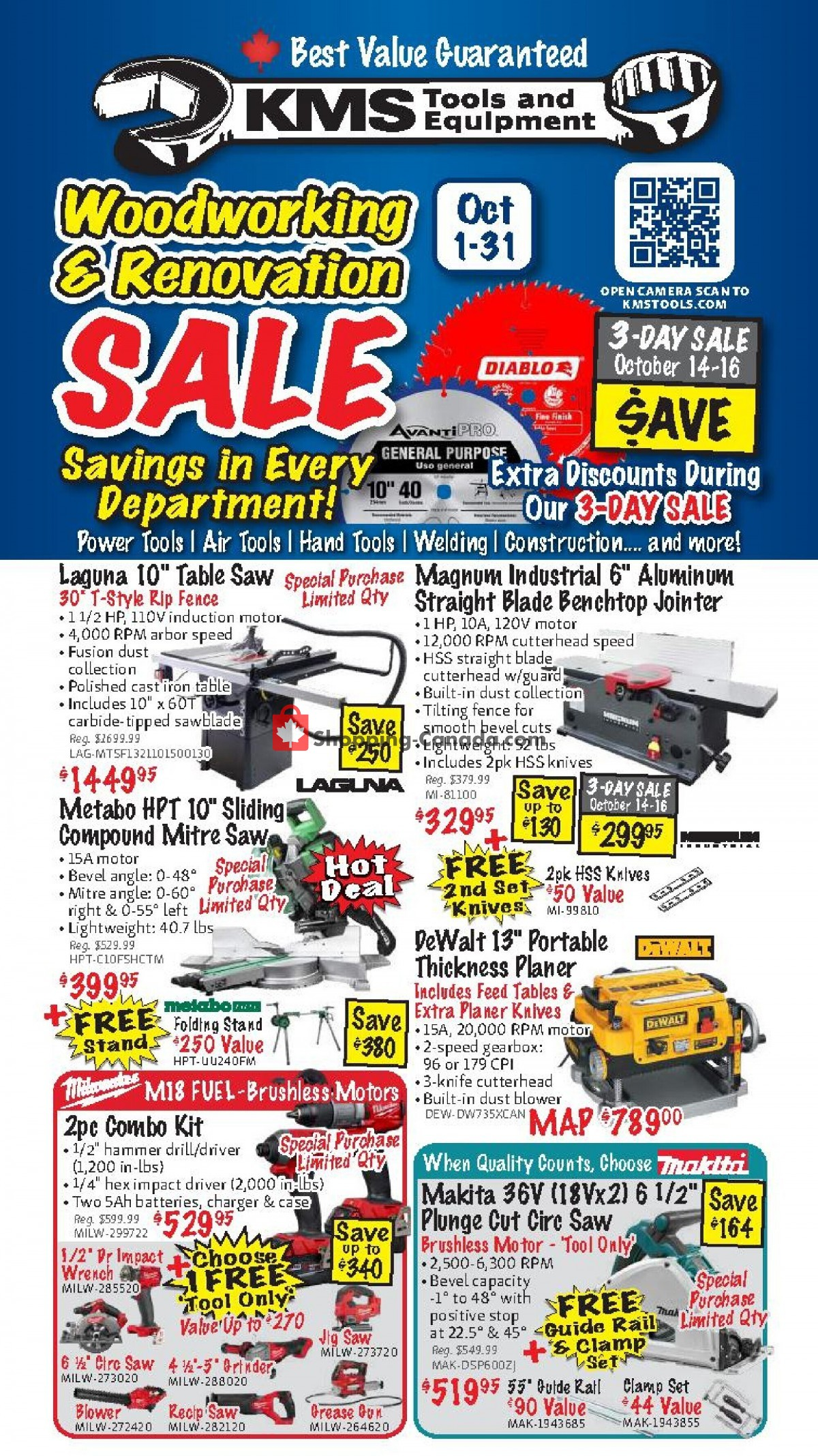 Flyer KMS Tools & Equipment Canada - from Friday October 1, 2021 to Sunday October 31, 2021