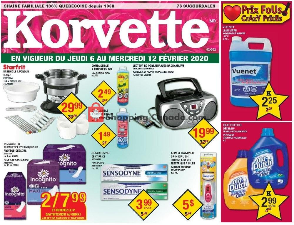 Flyer Korvette Canada - from Thursday February 6, 2020 to Wednesday February 12, 2020