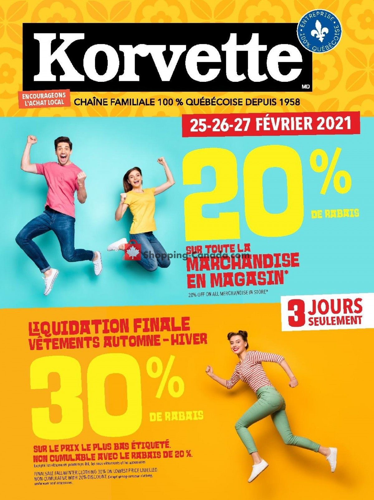 Flyer Korvette Canada - from Thursday February 25, 2021 to Saturday February 27, 2021