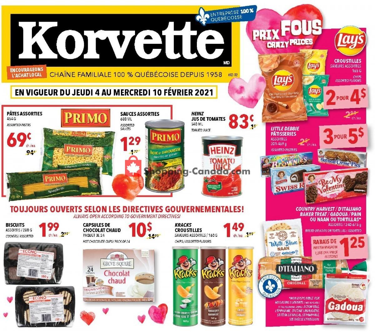 Flyer Korvette Canada - from Thursday February 4, 2021 to Wednesday February 10, 2021