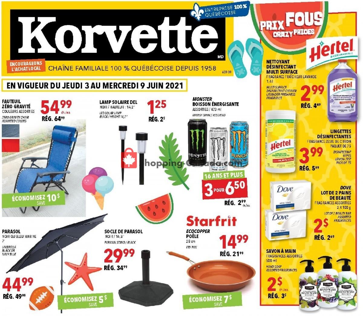 Flyer Korvette Canada - from Thursday June 3, 2021 to Wednesday June 9, 2021