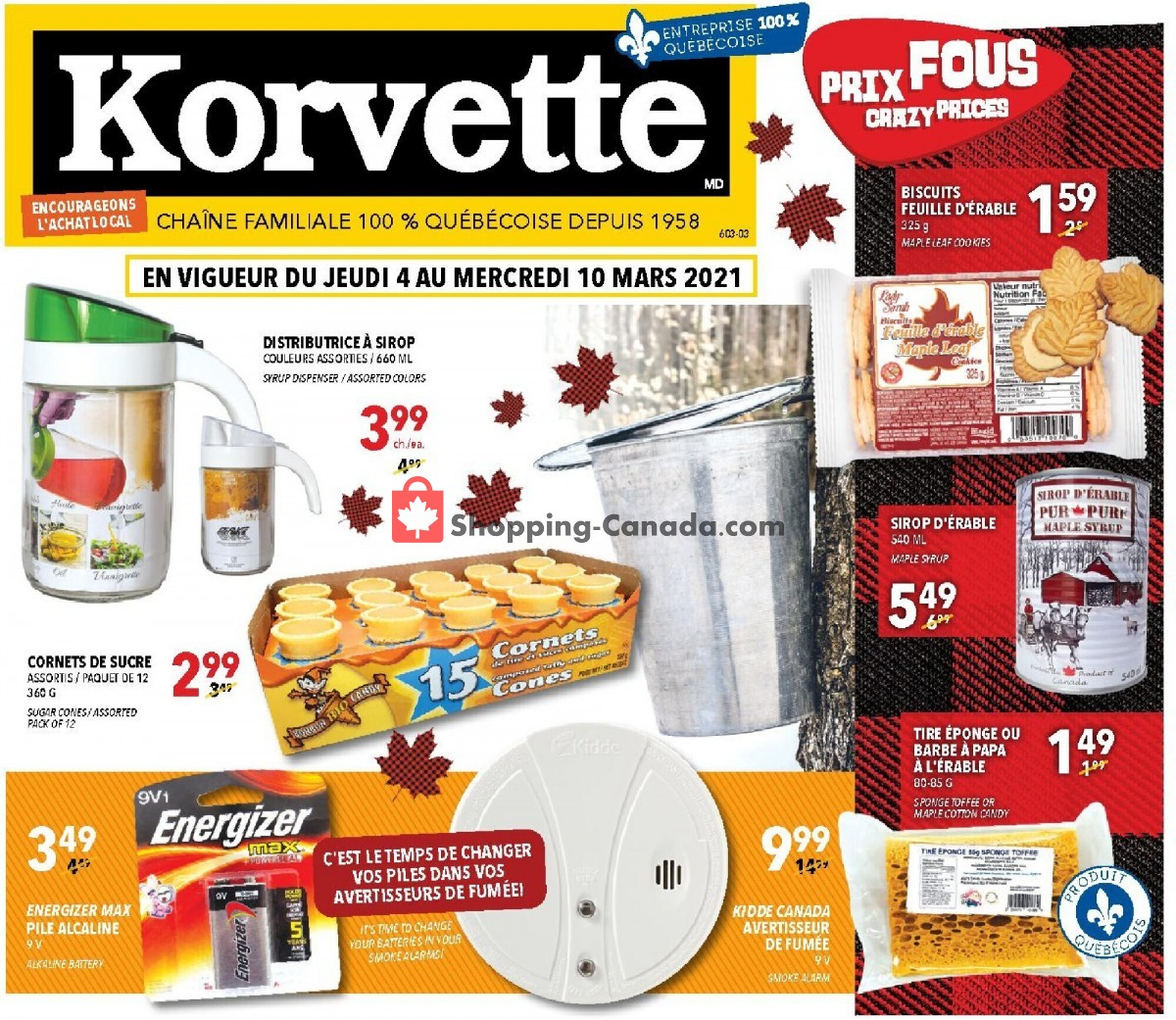 Flyer Korvette Canada - from Thursday March 4, 2021 to Wednesday March 10, 2021