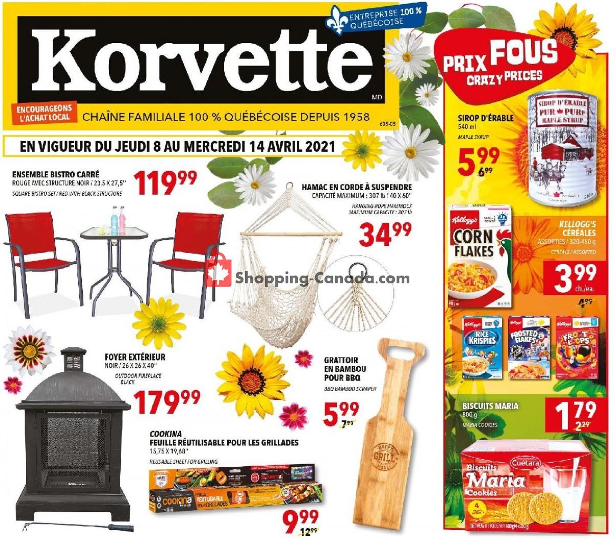 Flyer Korvette Canada - from Thursday April 8, 2021 to Wednesday April 14, 2021