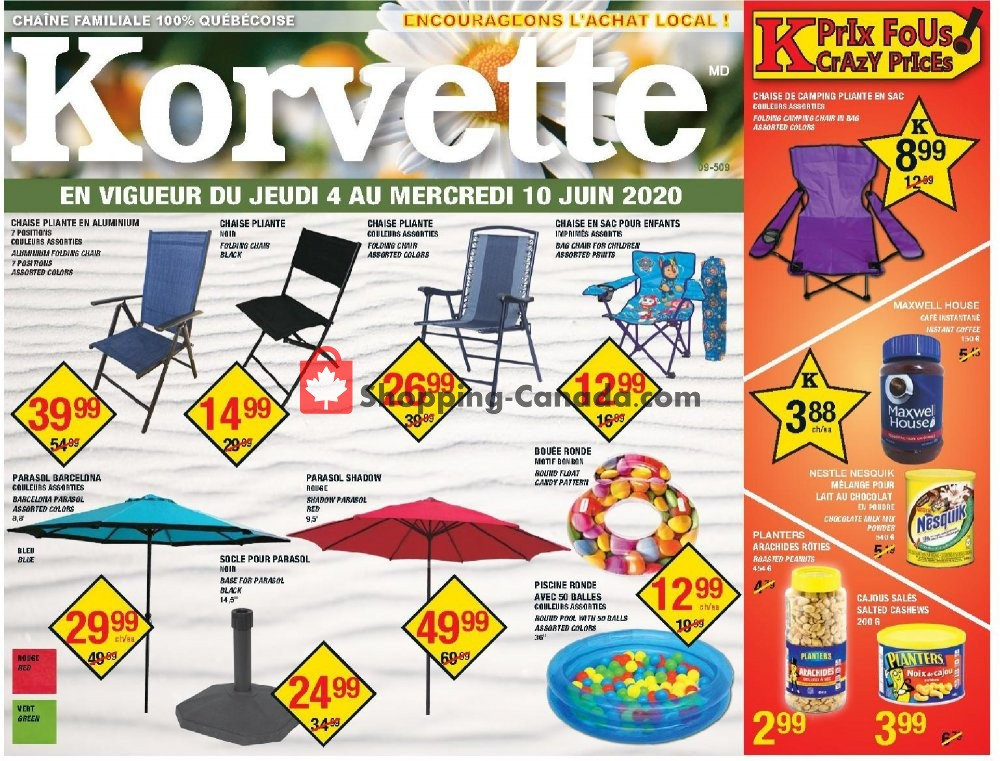 Flyer Korvette Canada - from Thursday June 4, 2020 to Wednesday June 10, 2020