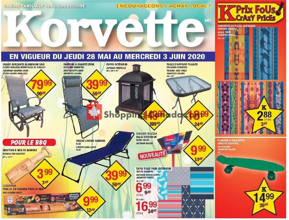 Flyer Korvette Canada - from Thursday May 28, 2020 to Wednesday June 3, 2020