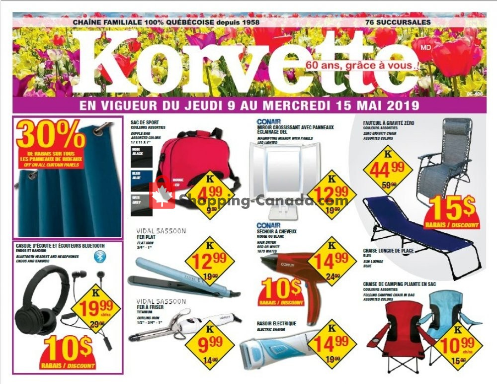 Flyer Korvette Canada - from Thursday May 9, 2019 to Wednesday May 15, 2019