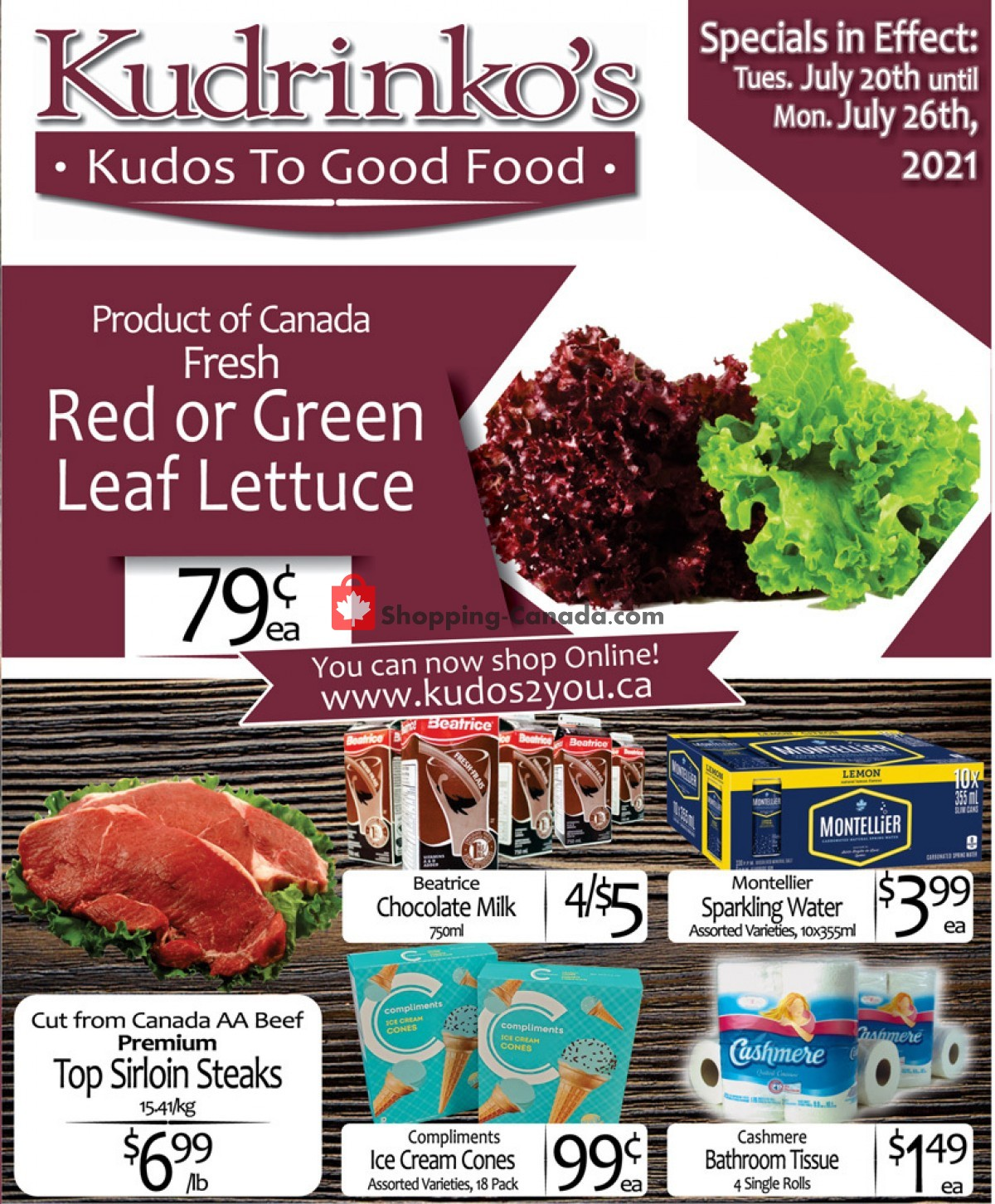 Flyer Kudrinko's Canada - from Tuesday July 20, 2021 to Monday July 26, 2021
