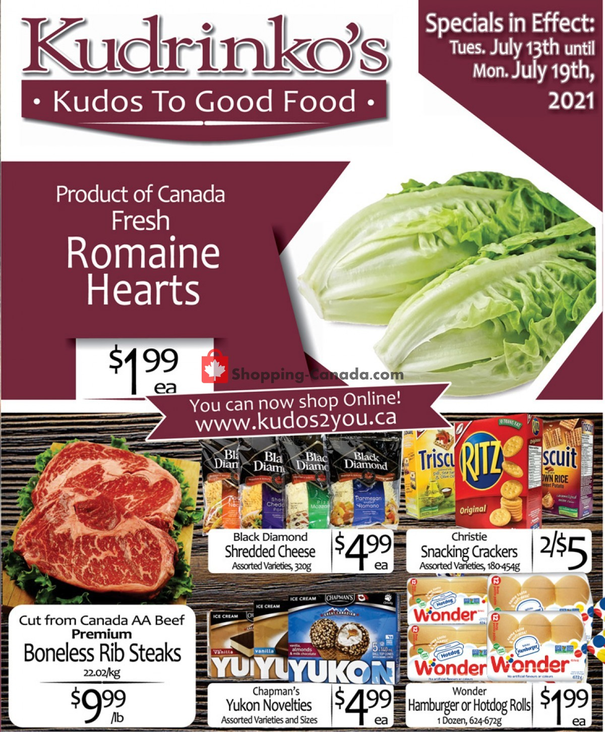 Flyer Kudrinko's Canada - from Tuesday July 13, 2021 to Monday July 19, 2021