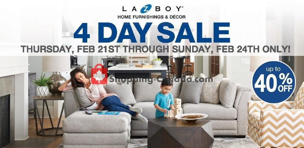 Flyer La-Z-Boy Canada - from Thursday February 21, 2019 to Sunday February 24, 2019