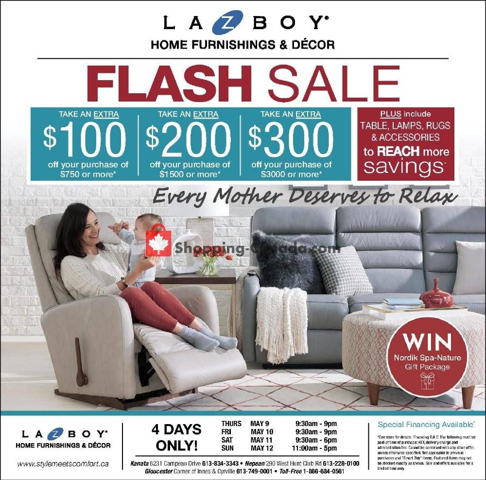 Flyer La-Z-Boy Canada - from Thursday May 9, 2019 to Sunday May 12, 2019