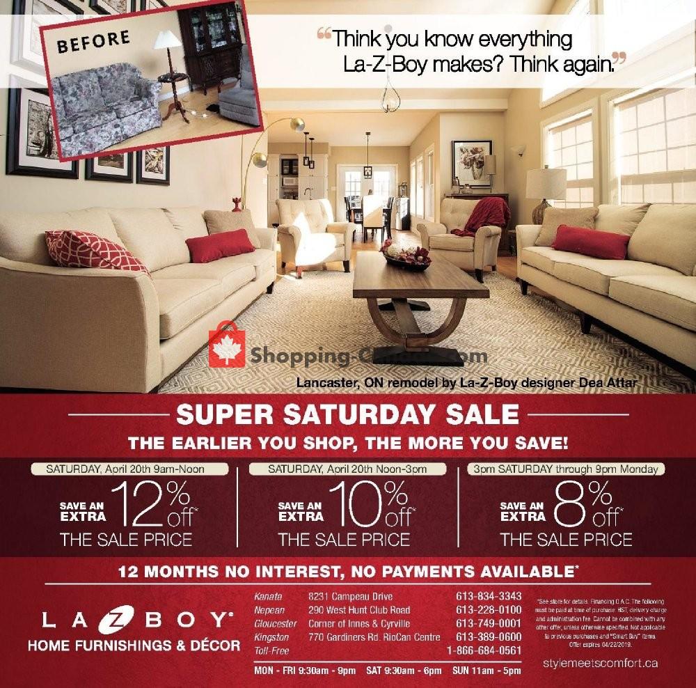Flyer La-Z-Boy Canada - from Saturday April 20, 2019 to Saturday April 20, 2019