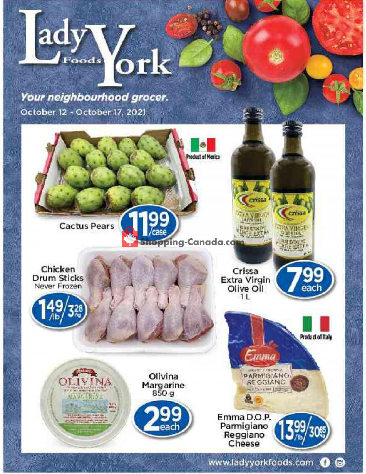 Flyer Lady York Foods Canada - from Tuesday October 12, 2021 to Sunday October 17, 2021