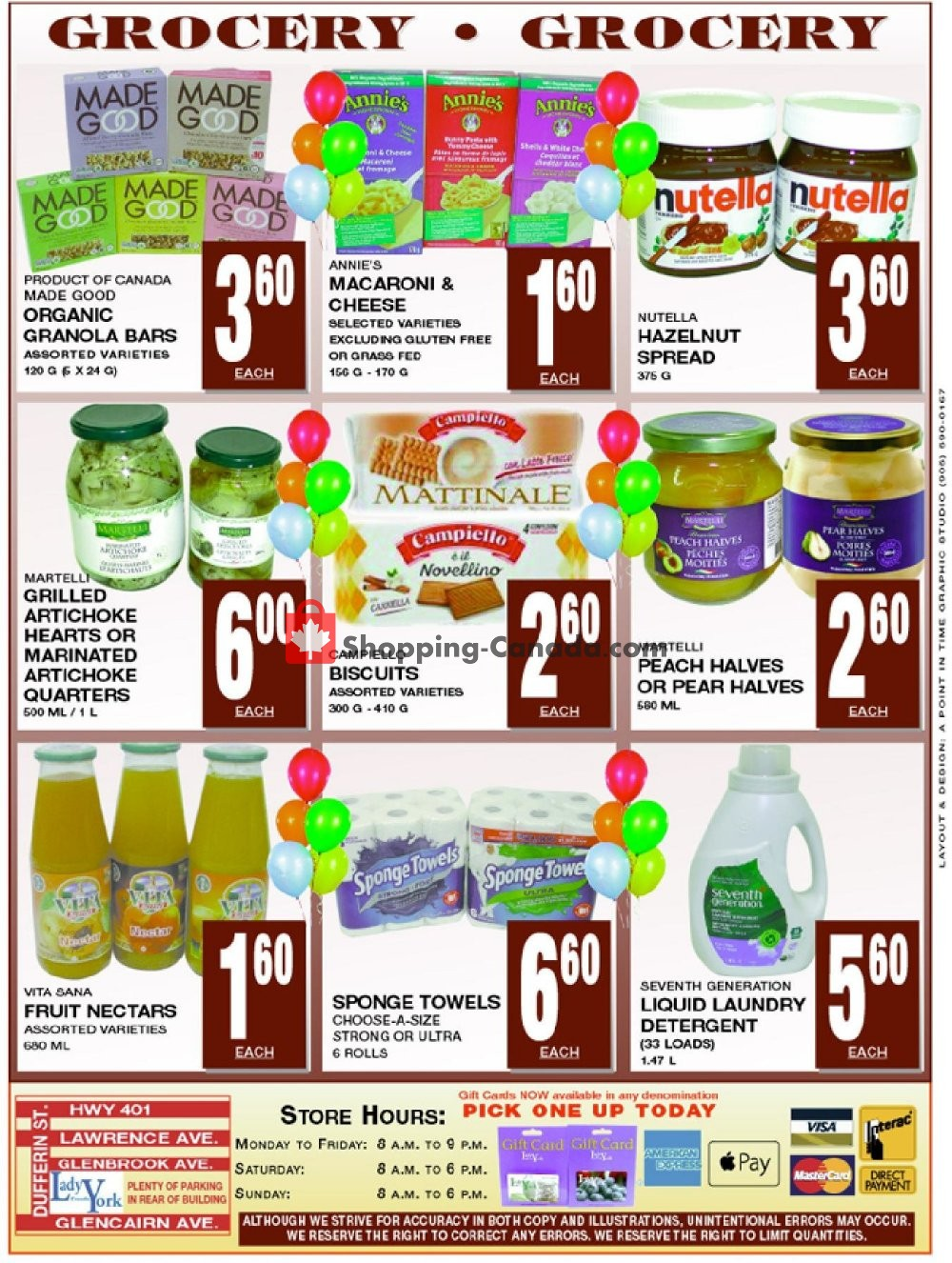 Flyer Lady York Foods Canada - from Monday September 9, 2019 to Sunday September 15, 2019