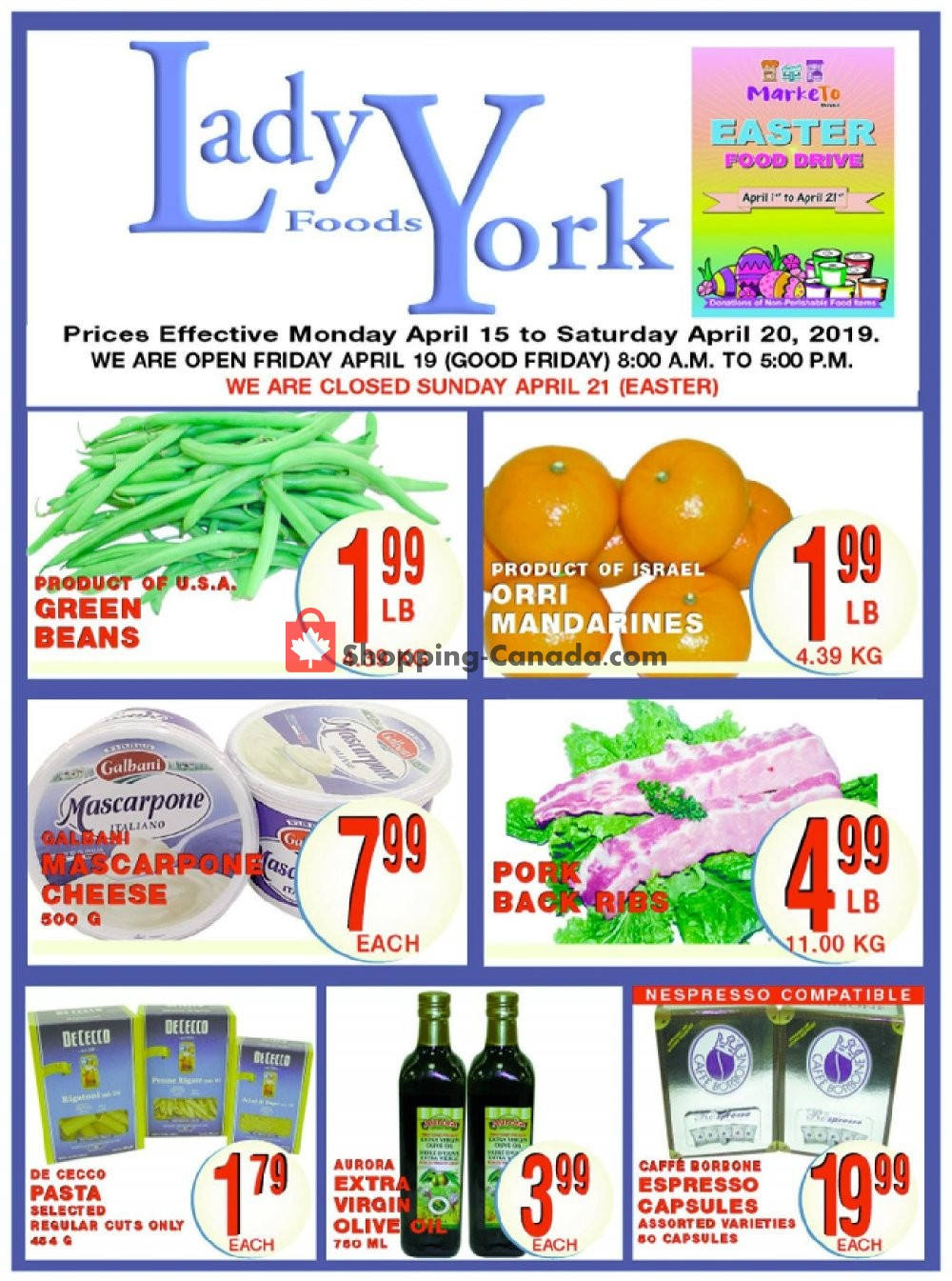 Flyer Lady York Foods Canada - from Monday April 15, 2019 to Saturday April 20, 2019