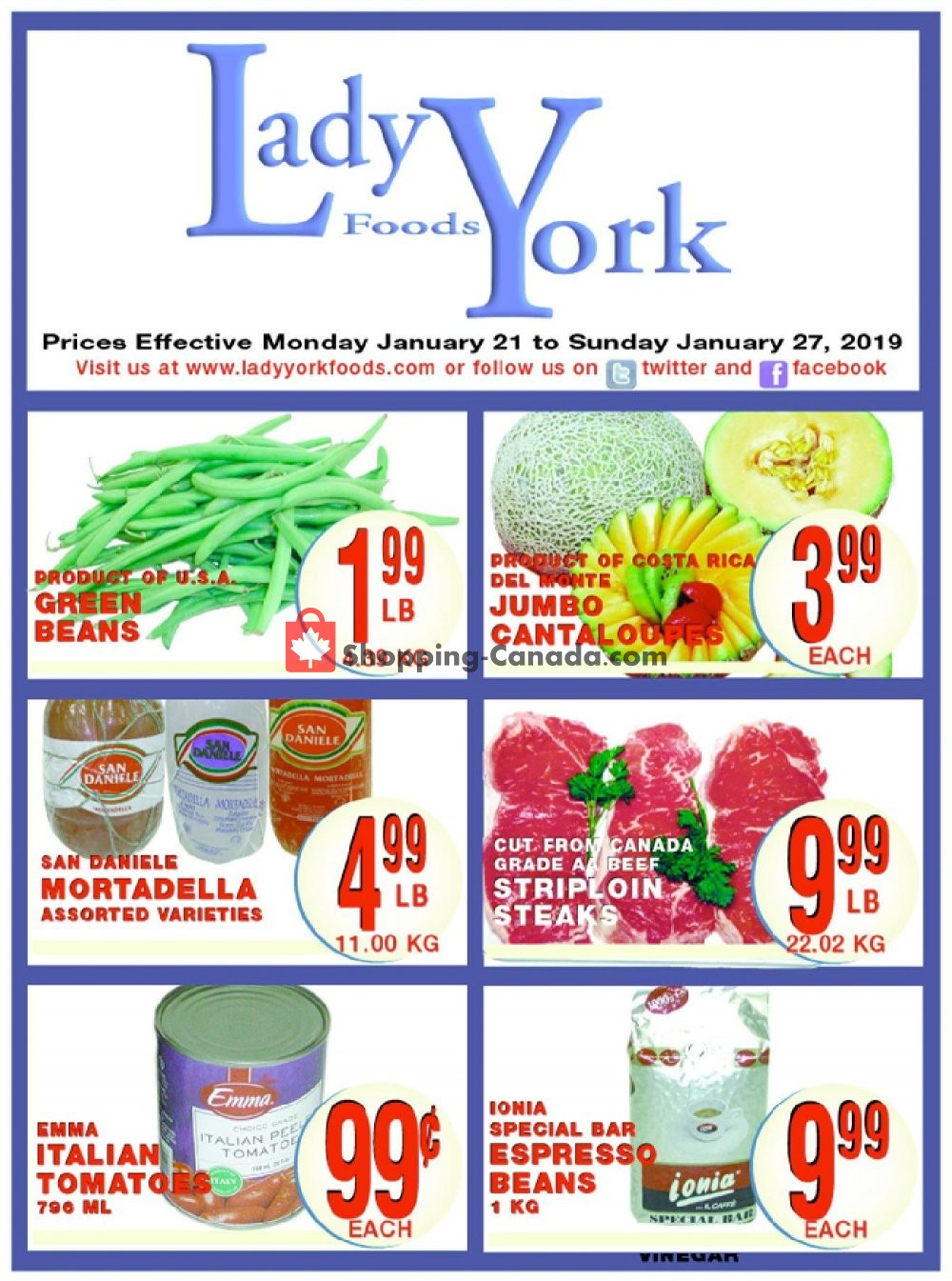 Flyer Lady York Foods Canada - from Monday January 21, 2019 to Sunday January 27, 2019