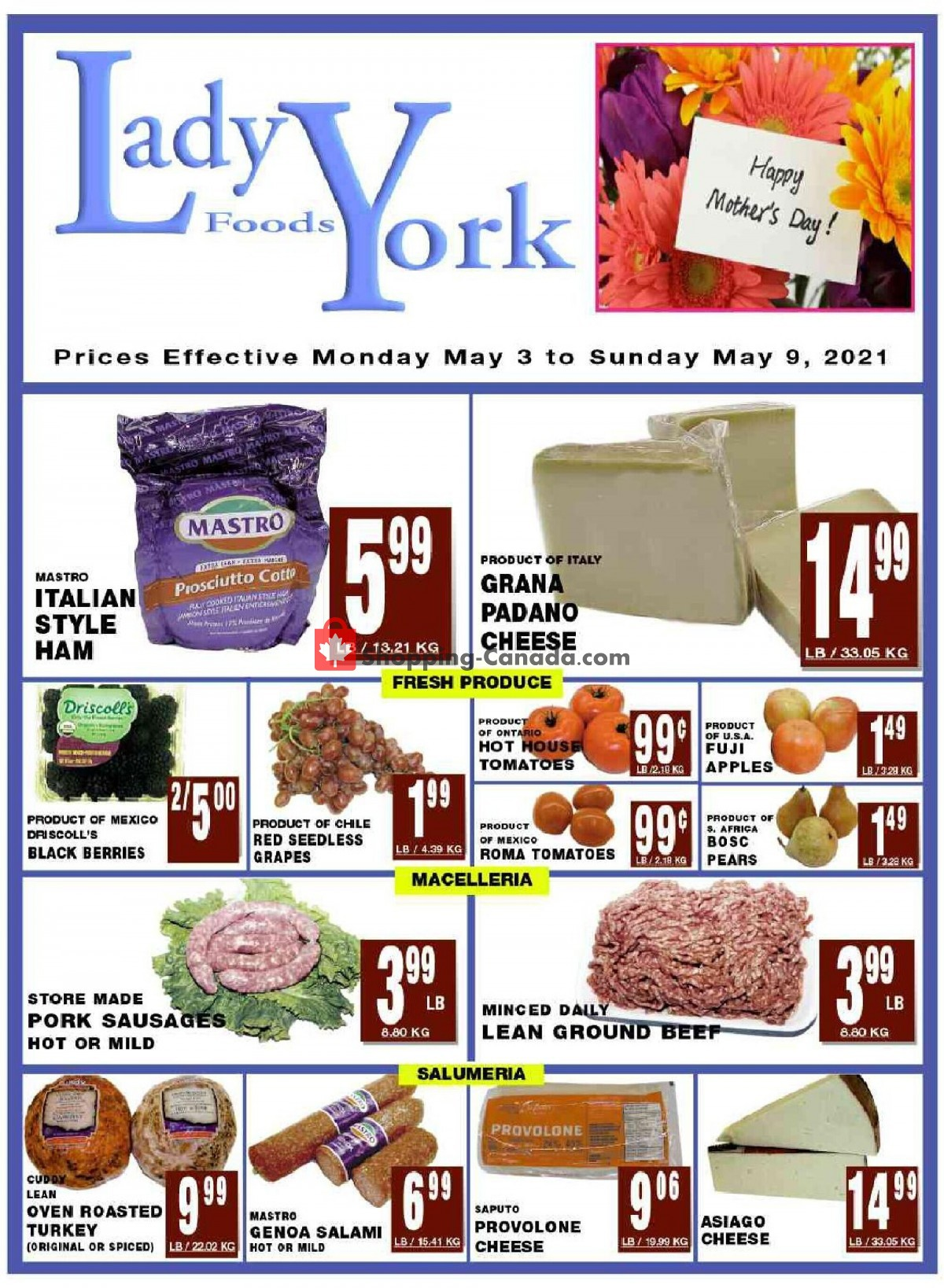 Flyer Lady York Foods Canada - from Monday May 3, 2021 to Sunday May 9, 2021