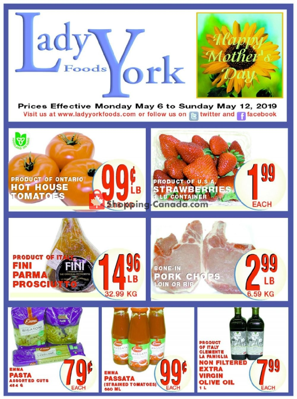 Flyer Lady York Foods Canada - from Monday May 6, 2019 to Sunday May 12, 2019