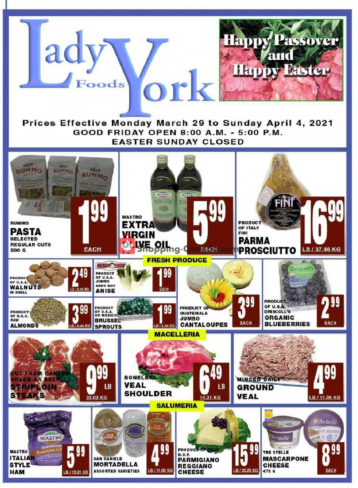 Flyer Lady York Foods Canada - from Monday March 29, 2021 to Sunday April 4, 2021