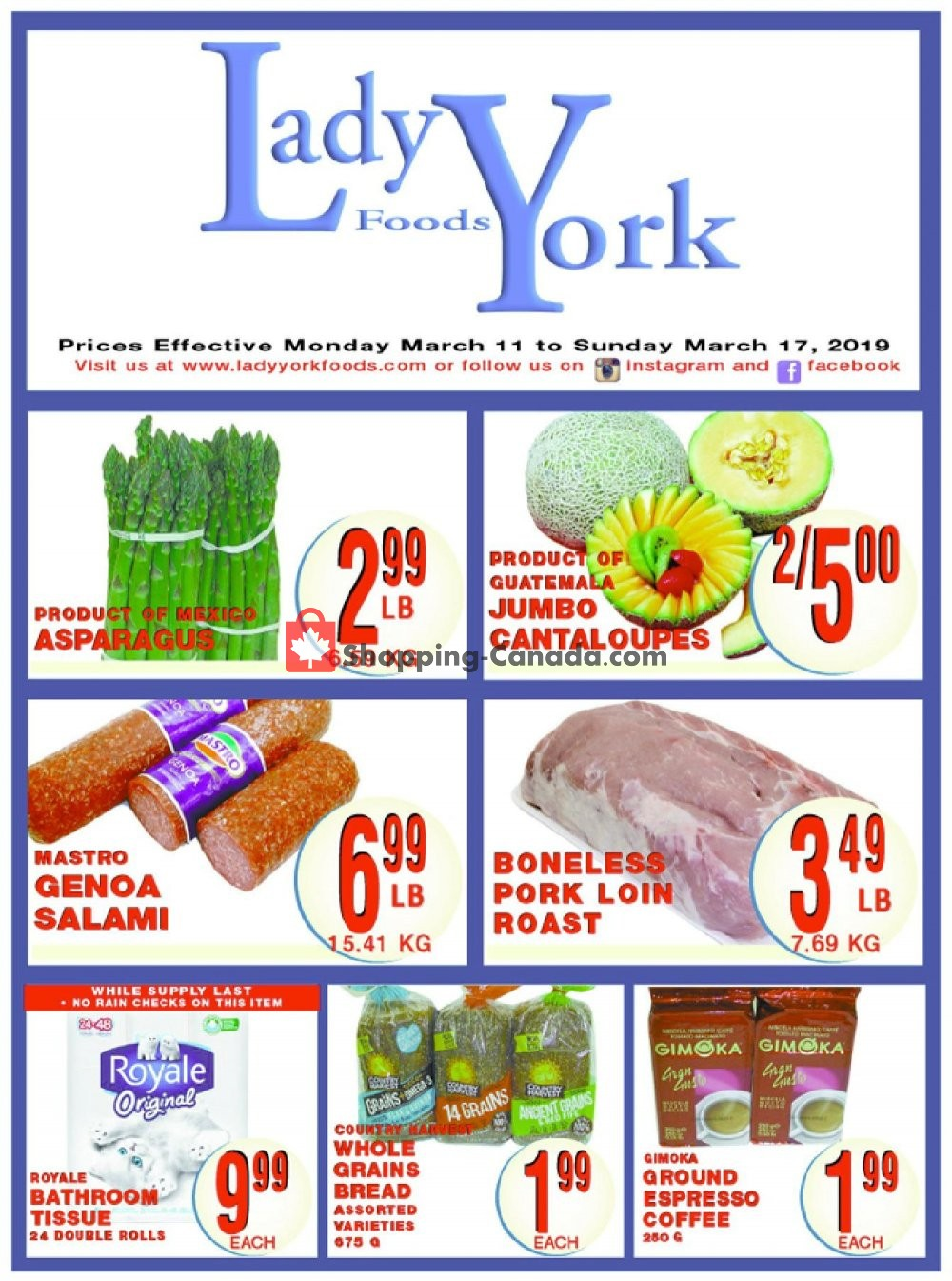 Flyer Lady York Foods Canada - from Monday March 11, 2019 to Sunday March 17, 2019