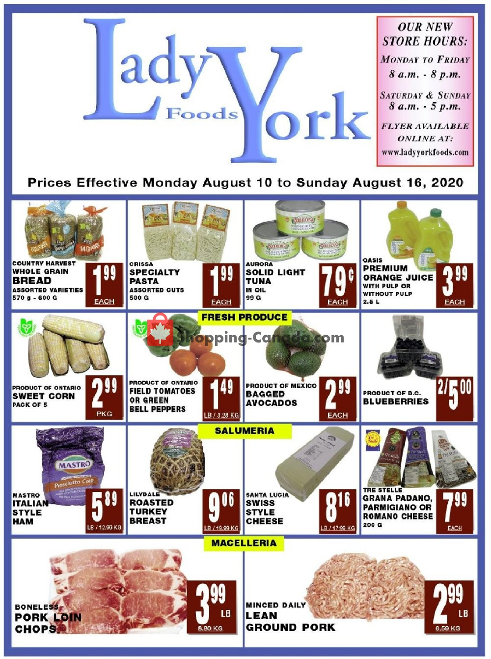 Flyer Lady York Foods Canada - from Monday August 10, 2020 to Sunday August 16, 2020