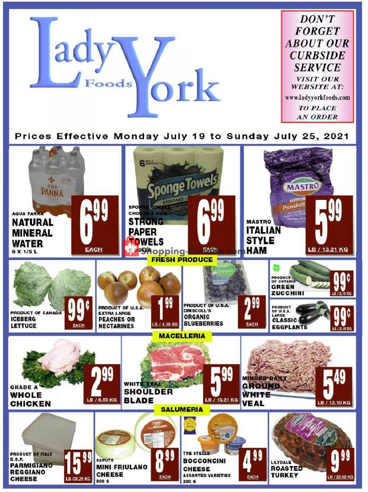 Flyer Lady York Foods Canada - from Monday July 19, 2021 to Sunday July 25, 2021