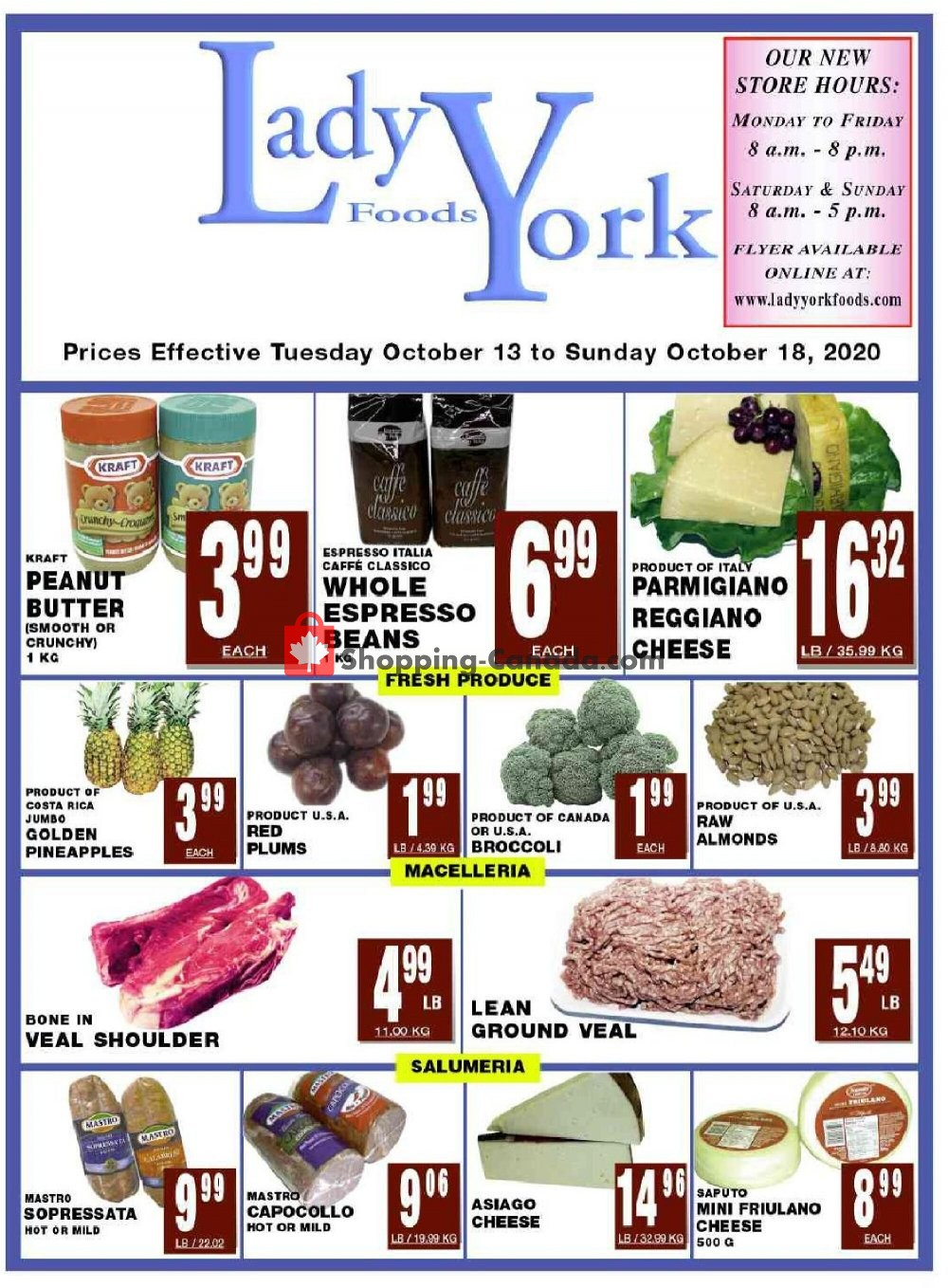 Flyer Lady York Foods Canada - from Tuesday October 13, 2020 to Sunday October 18, 2020