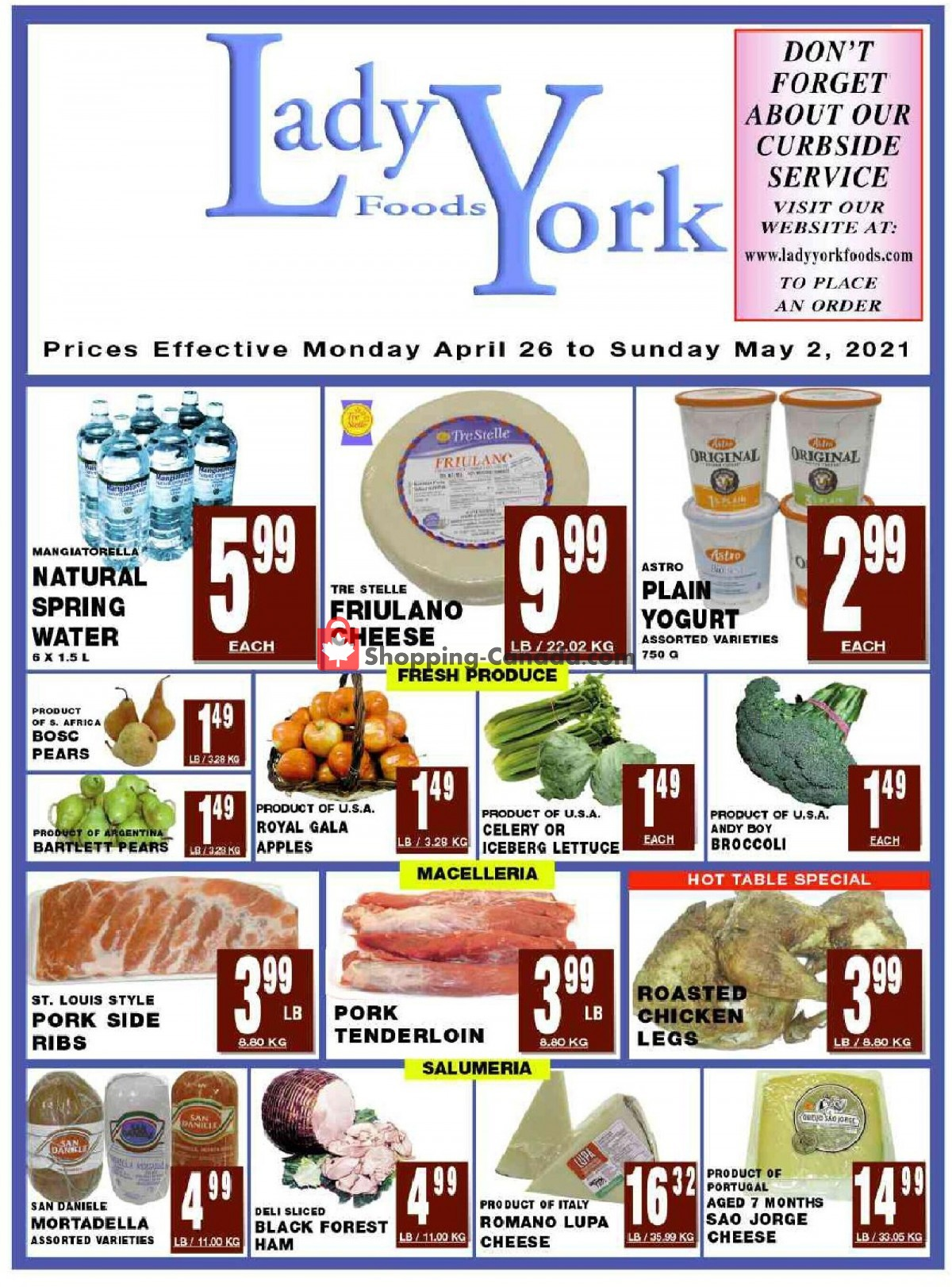 Flyer Lady York Foods Canada - from Monday April 26, 2021 to Sunday May 2, 2021