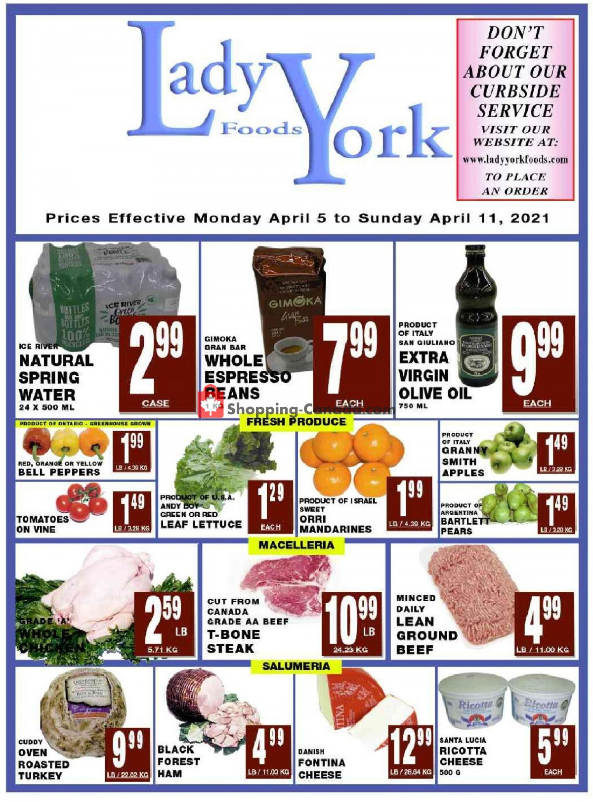 Flyer Lady York Foods Canada - from Monday April 5, 2021 to Sunday April 11, 2021