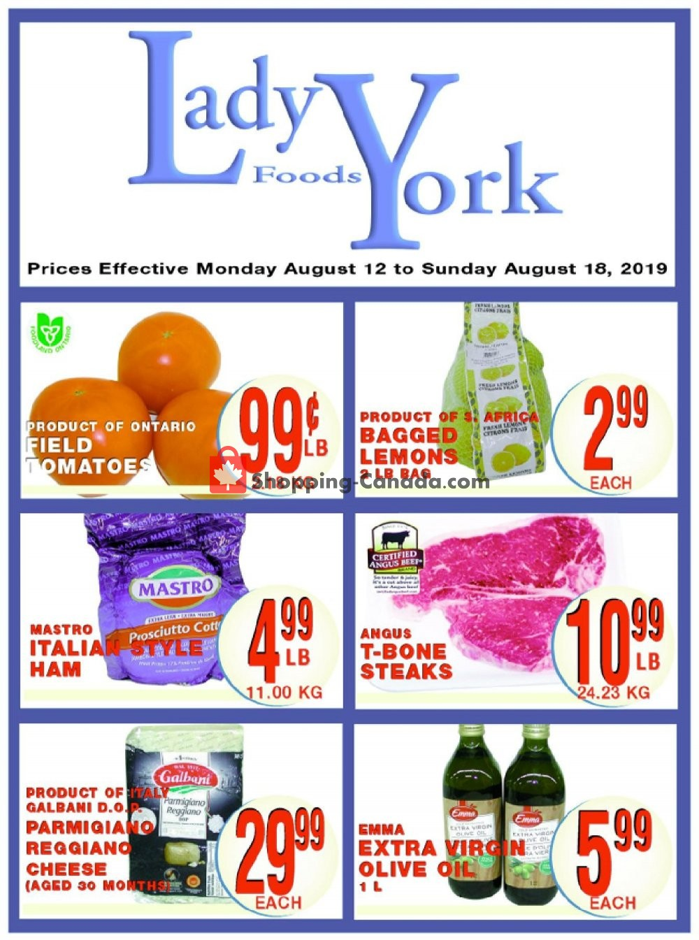 Flyer Lady York Foods Canada - from Monday August 12, 2019 to Sunday August 18, 2019
