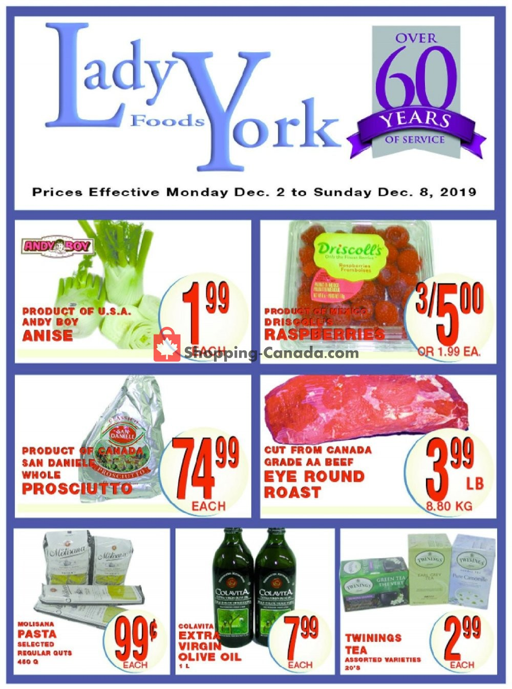 Flyer Lady York Foods Canada - from Monday December 2, 2019 to Sunday December 8, 2019