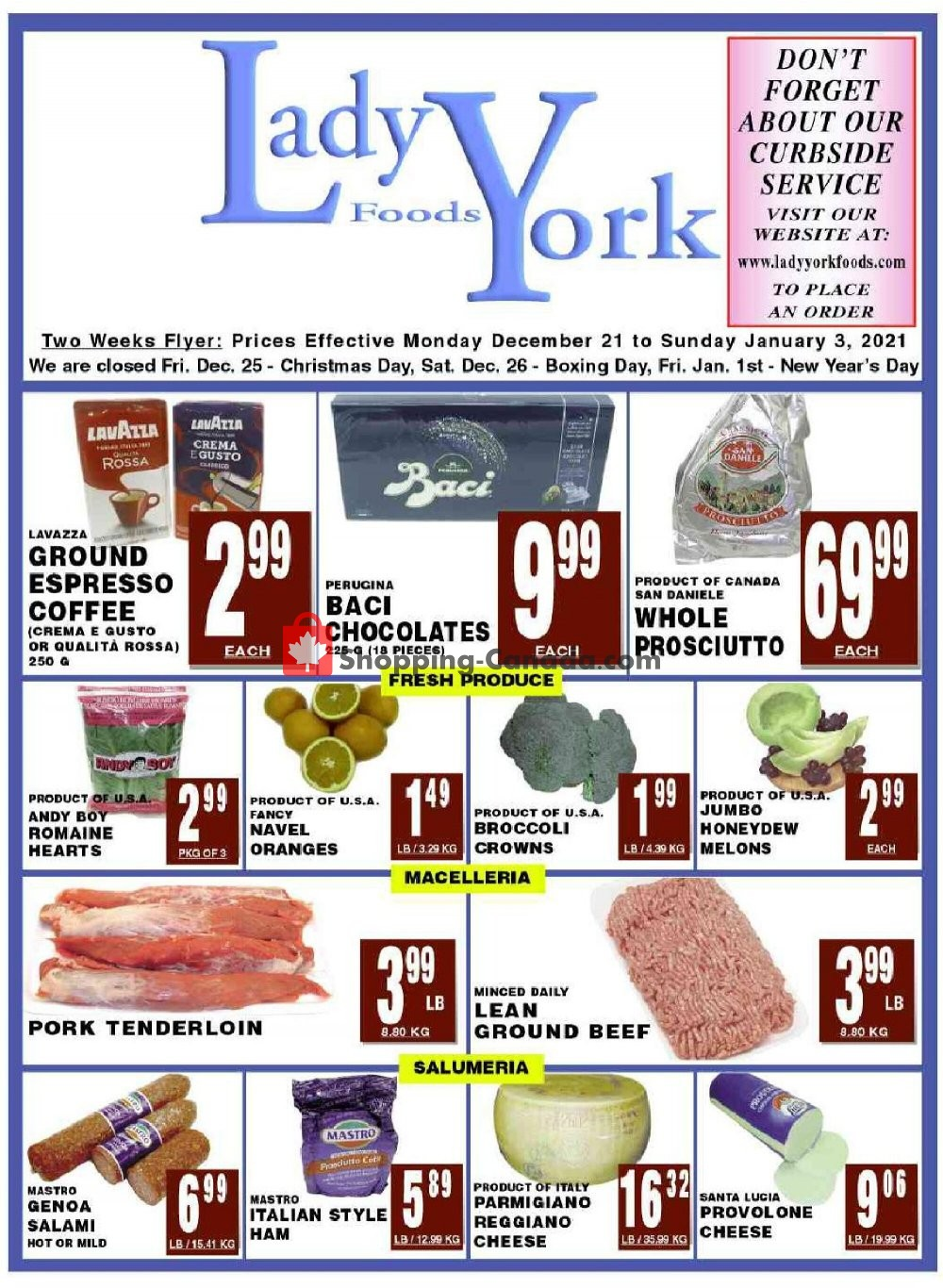 Flyer Lady York Foods Canada - from Monday December 21, 2020 to Sunday January 3, 2021