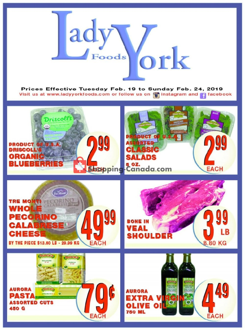 Flyer Lady York Foods Canada - from Tuesday February 19, 2019 to Sunday February 24, 2019