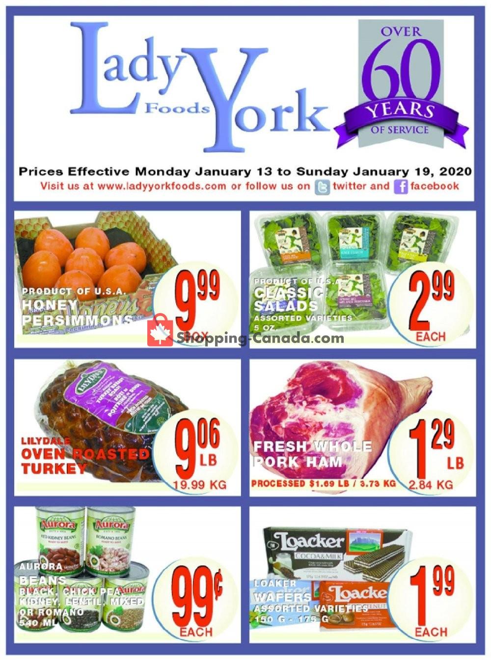 Flyer Lady York Foods Canada - from Monday January 13, 2020 to Sunday January 19, 2020