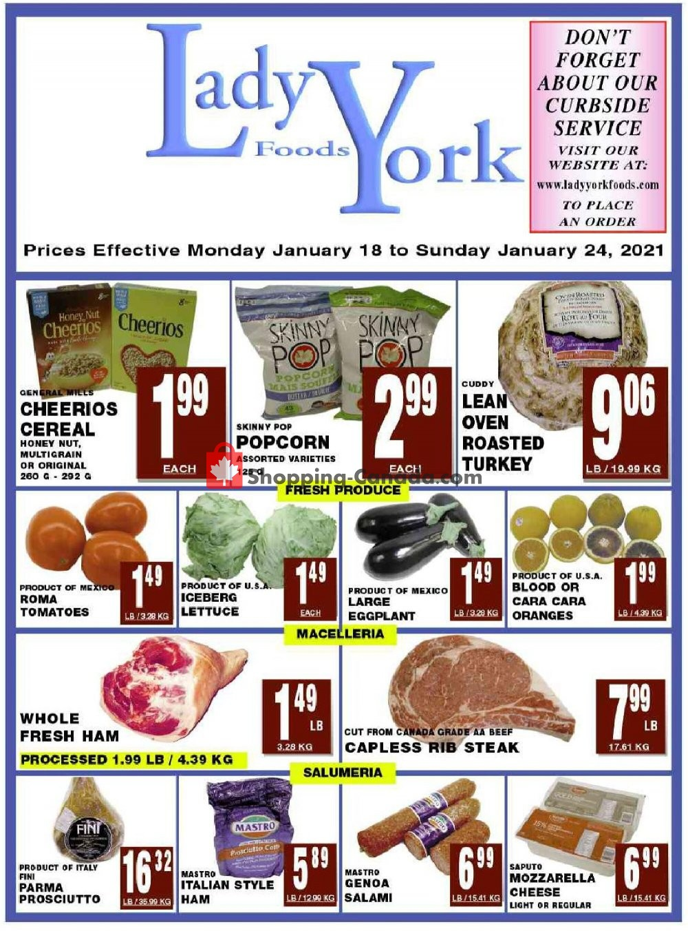 Flyer Lady York Foods Canada - from Monday January 18, 2021 to Sunday January 24, 2021