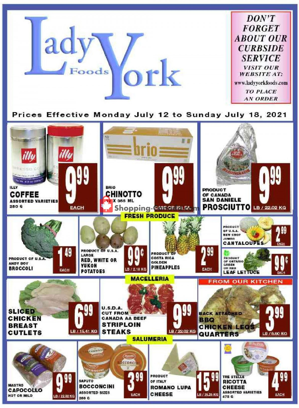 Flyer Lady York Foods Canada - from Monday July 12, 2021 to Sunday July 18, 2021