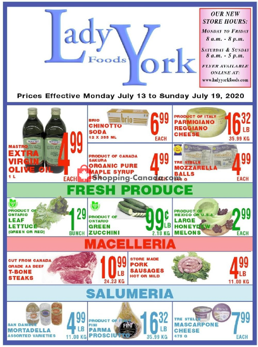 Flyer Lady York Foods Canada - from Monday July 13, 2020 to Sunday July 19, 2020