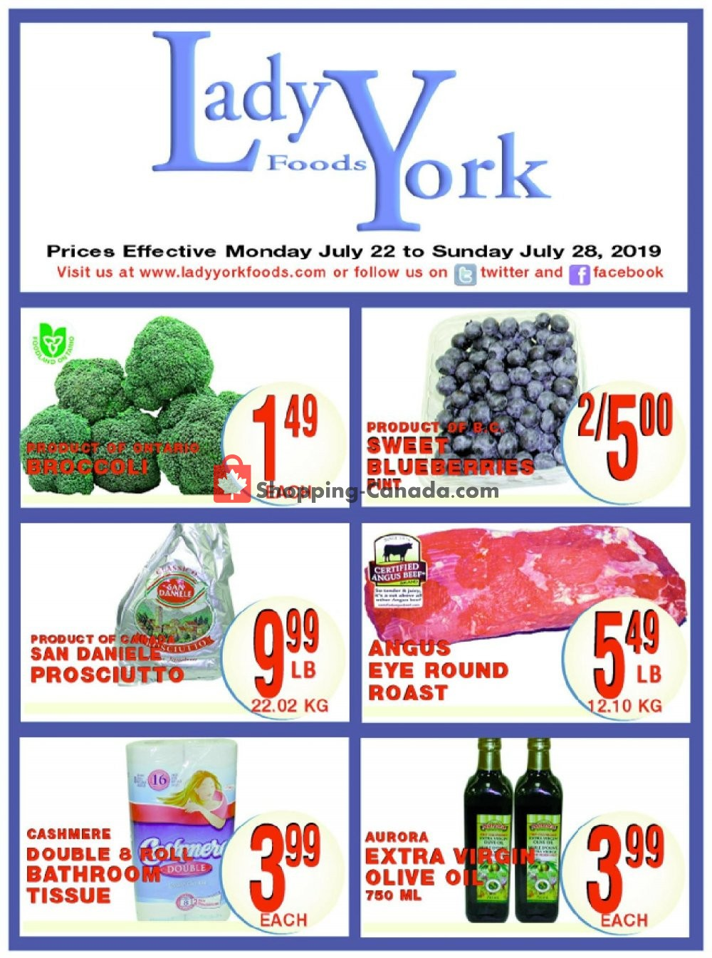 Flyer Lady York Foods Canada - from Monday July 22, 2019 to Sunday July 28, 2019