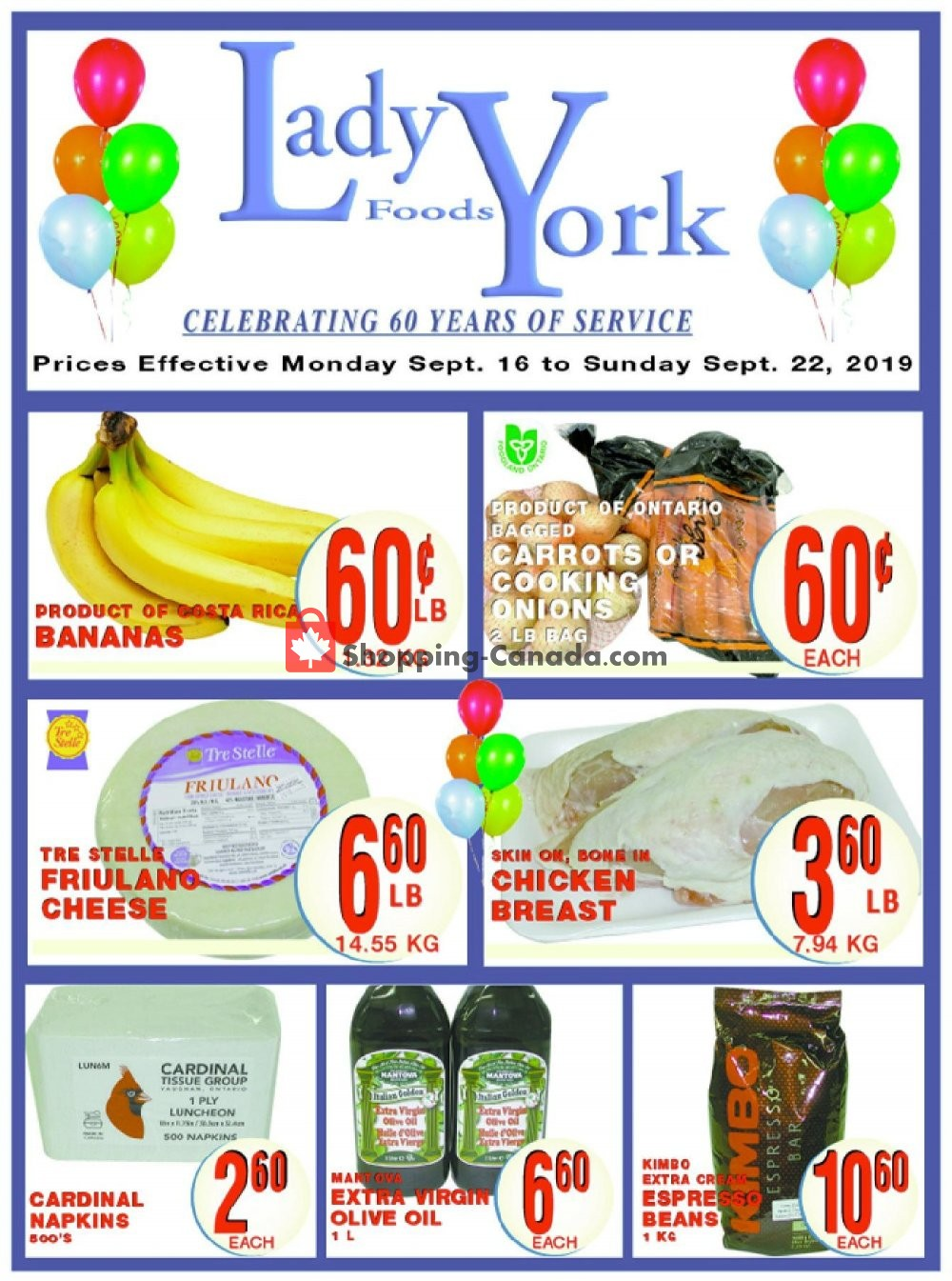 Flyer Lady York Foods Canada - from Monday September 16, 2019 to Sunday September 22, 2019