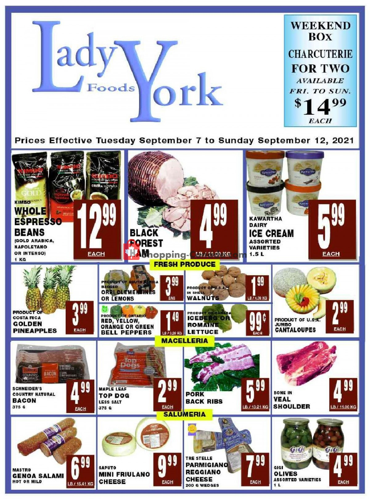 Flyer Lady York Foods Canada - from Tuesday September 7, 2021 to Sunday September 12, 2021