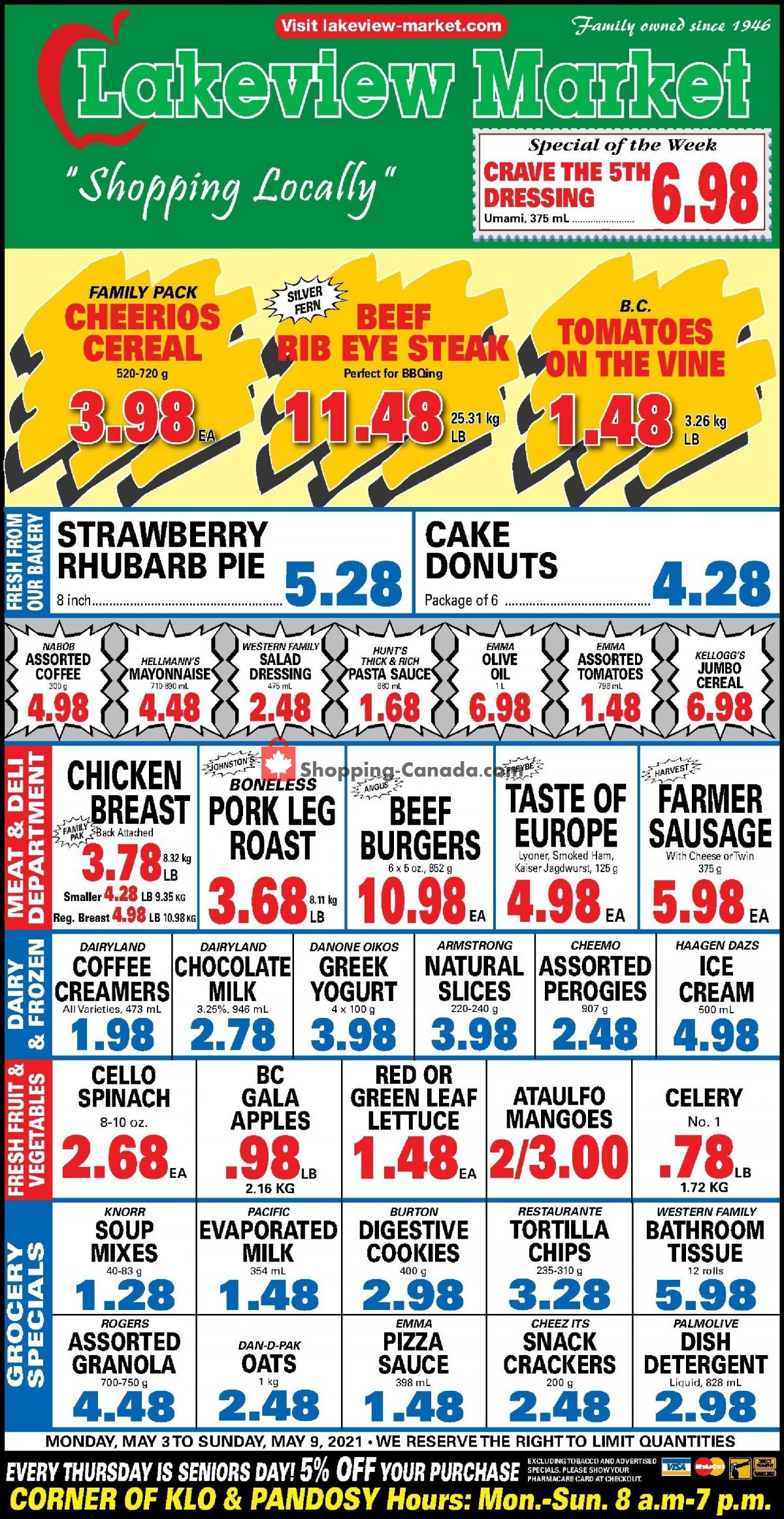 Flyer Lakeview Market Canada - from Monday May 3, 2021 to Sunday May 9, 2021