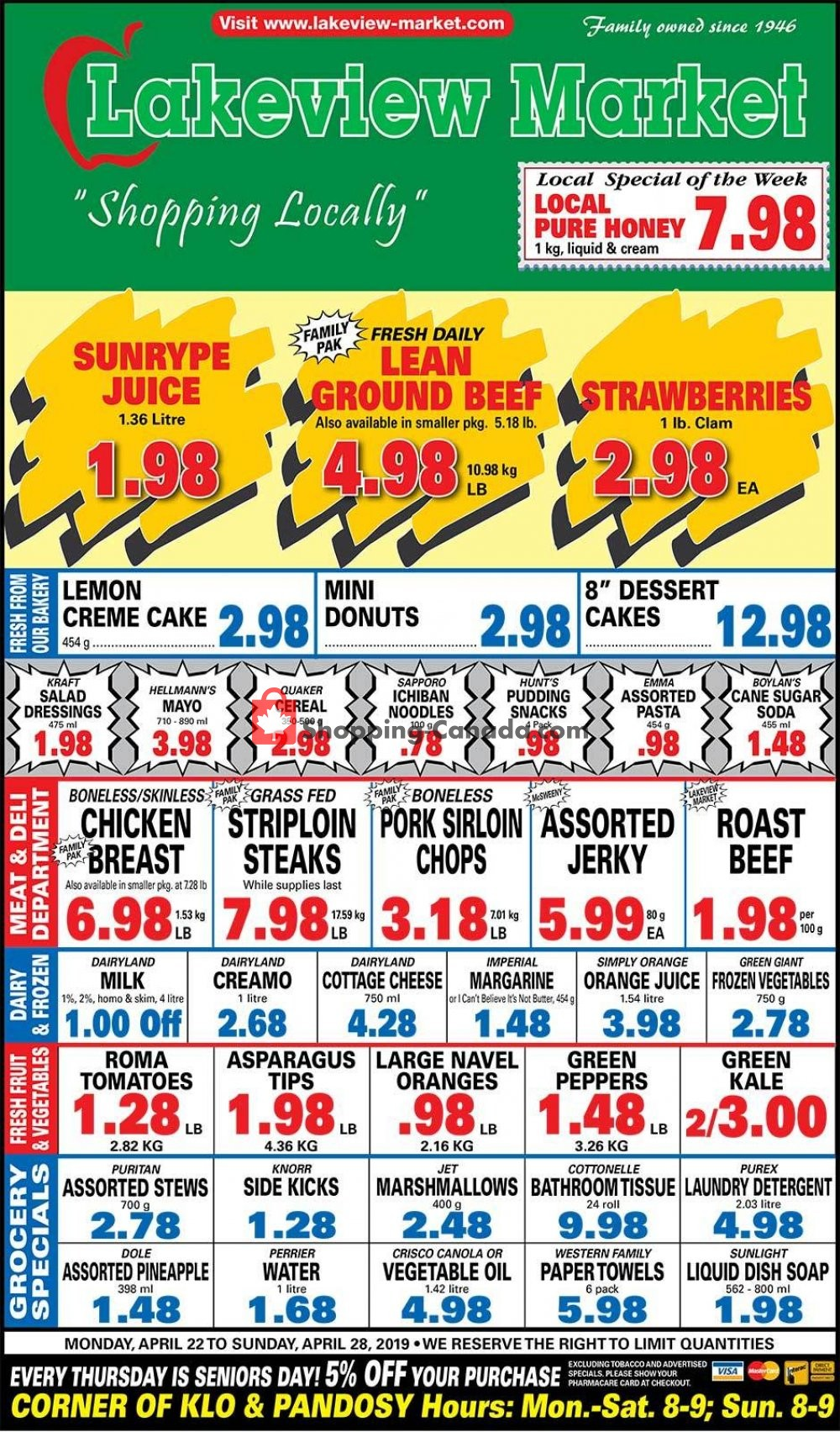 Flyer Lakeview Market Canada - from Monday April 22, 2019 to Sunday April 28, 2019