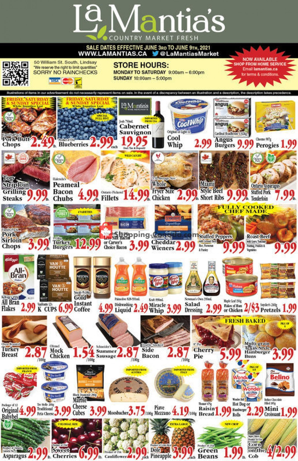 Flyer Lamantia's Country Market Canada - from Thursday June 3, 2021 to Wednesday June 9, 2021