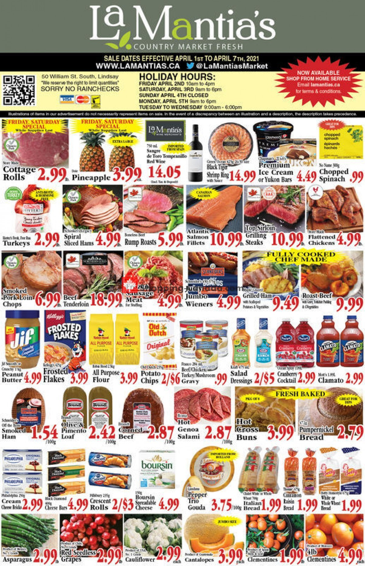 Flyer Lamantia's Country Market Canada - from Thursday April 1, 2021 to Wednesday April 7, 2021