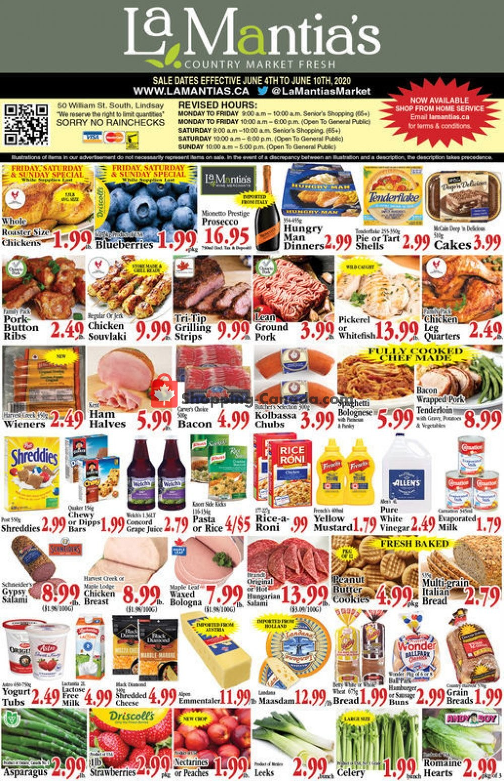 Flyer Lamantia's Country Market Canada - from Thursday June 4, 2020 to Wednesday June 10, 2020