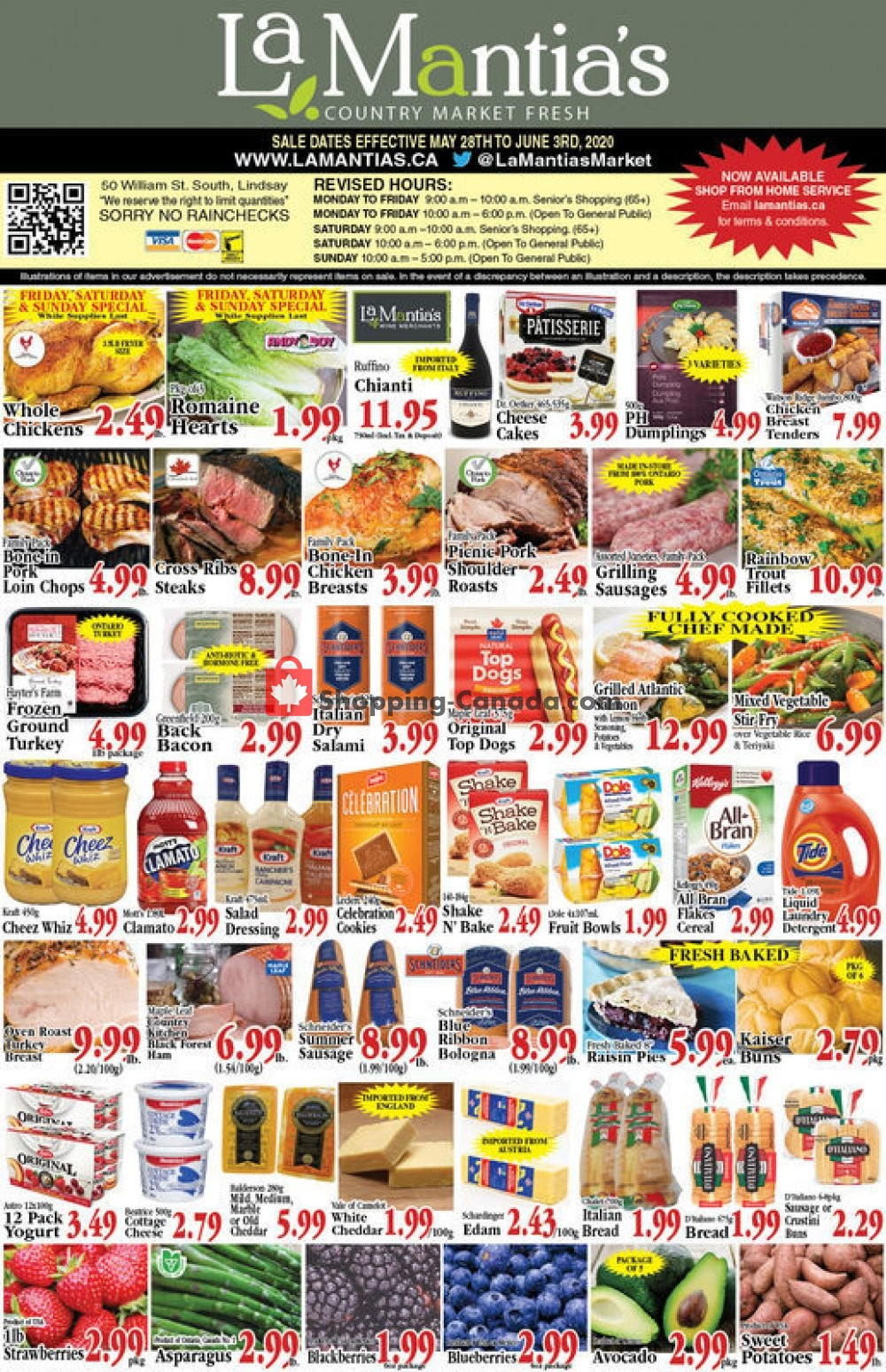 Flyer Lamantia's Country Market Canada - from Thursday May 28, 2020 to Wednesday June 3, 2020