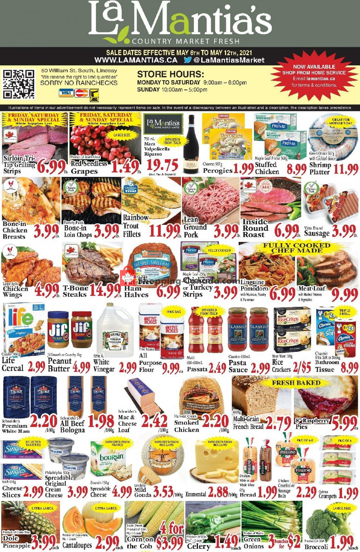 Flyer Lamantia's Country Market Canada - from Thursday May 6, 2021 to Wednesday May 12, 2021