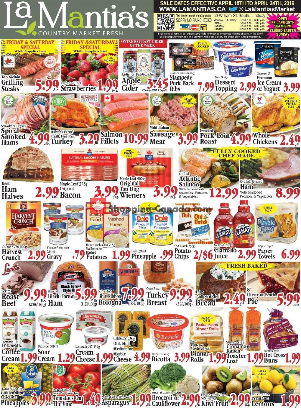 Flyer Lamantia's Country Market Canada - from Thursday April 18, 2019 to Wednesday April 24, 2019