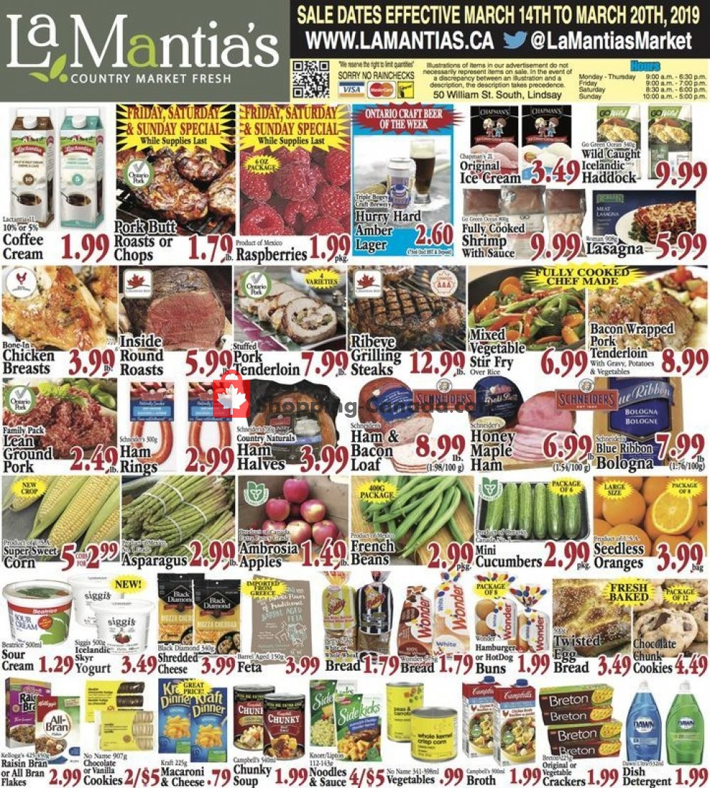 Flyer Lamantia's Country Market Canada - from Thursday March 14, 2019 to Wednesday March 20, 2019