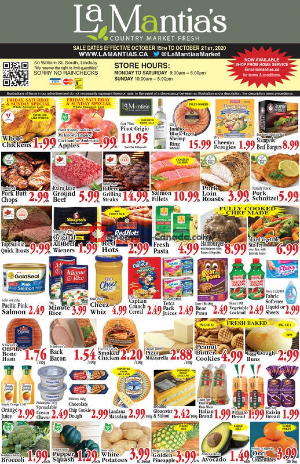 Flyer Lamantia's Country Market Canada - from Thursday October 15, 2020 to Wednesday October 21, 2020